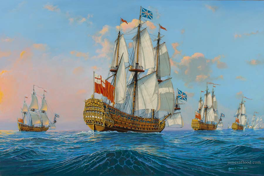 Britannia Chasing the French