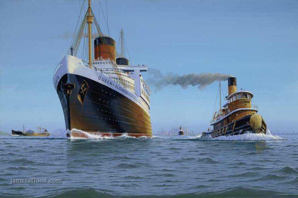 RMS Queen Elizabeth 1952 Art Print