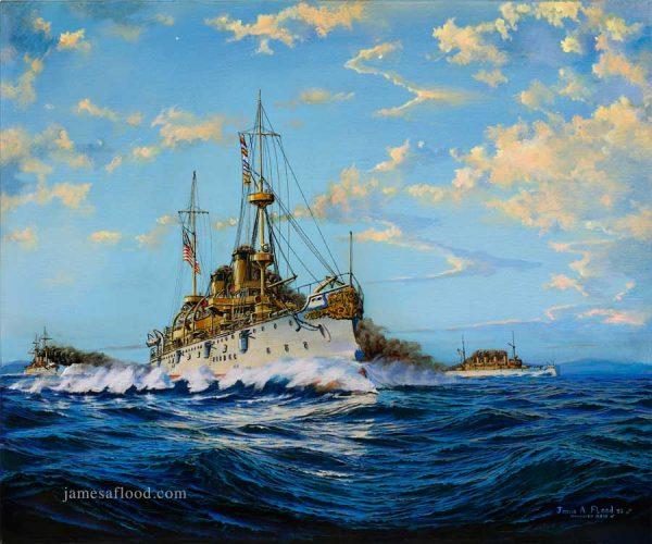 Print of USS Olympia