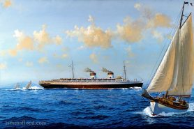 Painting of the SS Rex