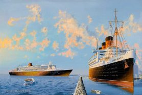 RMS Queen Mary & QM2 NYH 2004