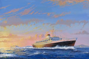 Painting of the Andrea Doria