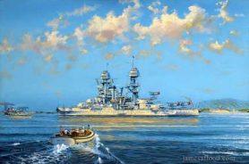 Painting of USS Arizona