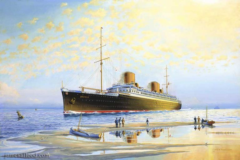 Painting of SS Bremen