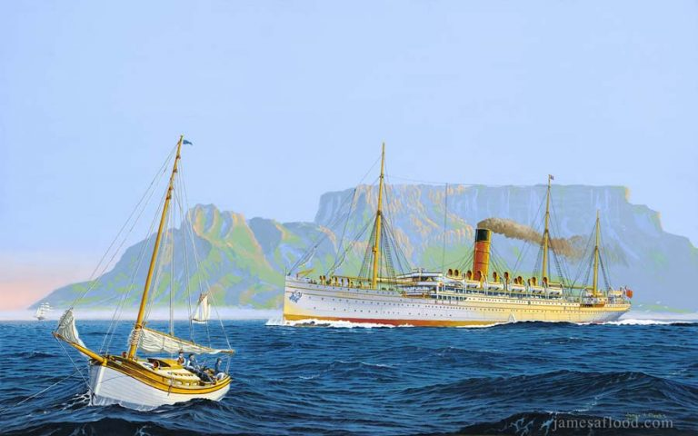 SS Caribrook Castle in Cape Town Harbour