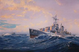 Painting of USS Charles P Cecil