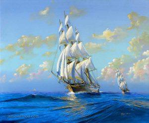 Fictional Clipper Ship Diane