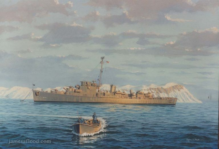 Painting of USS Doherty