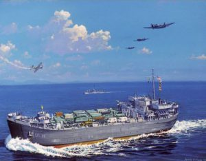 Painting of WWII LST-32.