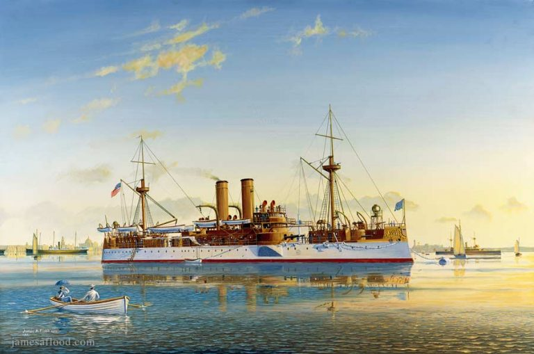 USS Maine in Havana Harbor in 1898