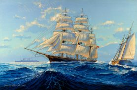Painting of Clipper Ship