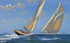 Great Yachts off the coast of Nantucket