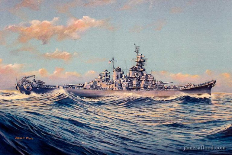 USS New Jersey sideview