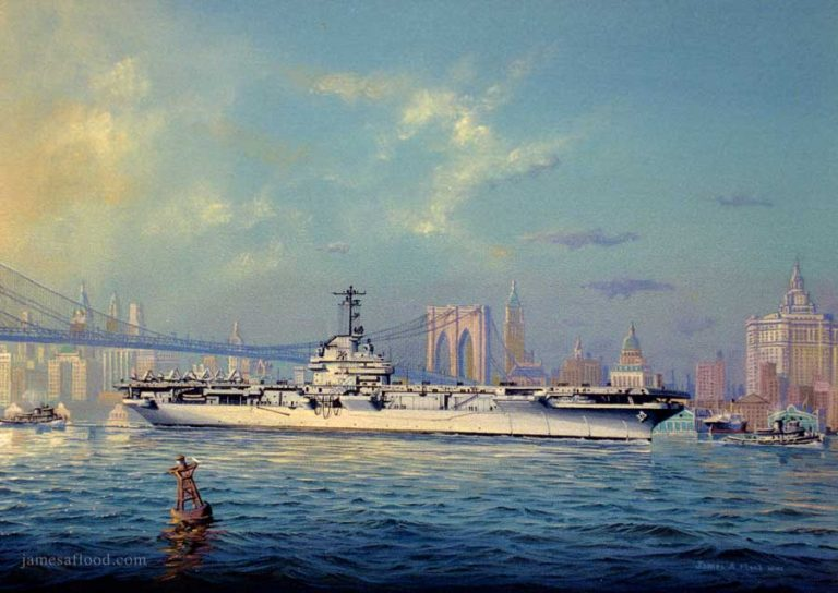 Painting of USS Oriskany