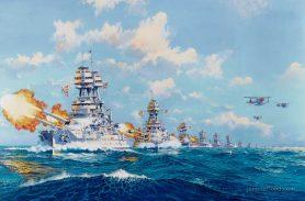 US Pacific fleet at battle practice.