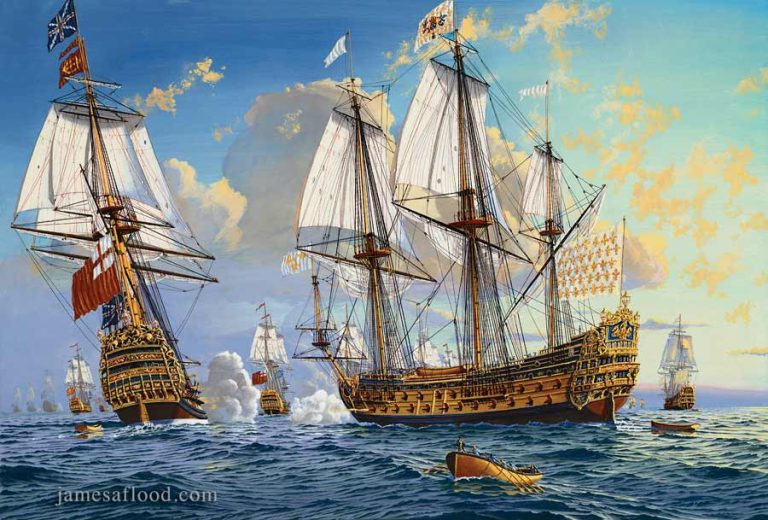 Painting of the fleet of King Charles II