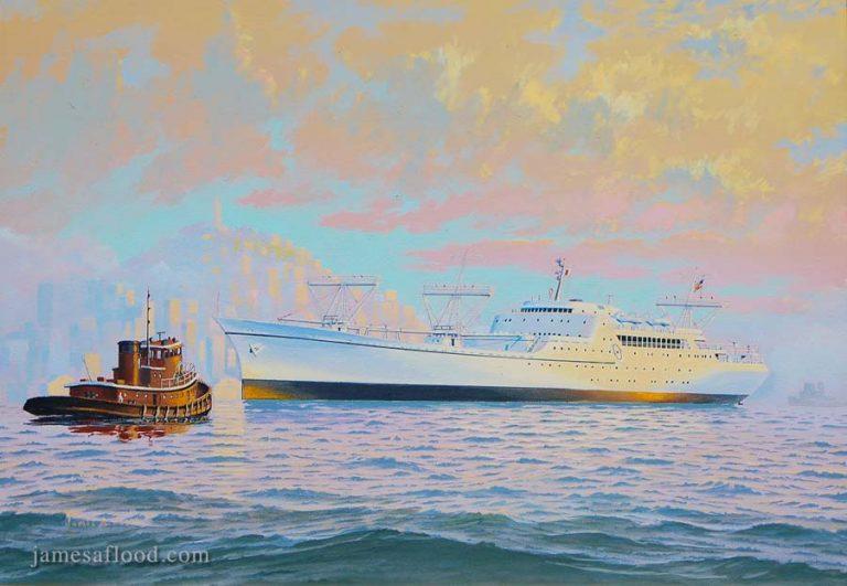 NS Savannah in San Francisco Harbor
