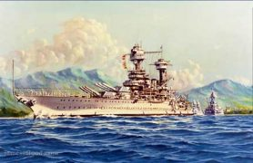 Painting of USS Tennessee.