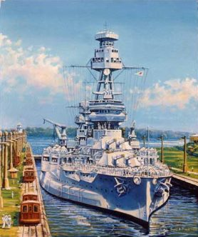 Painting of the USS Texas