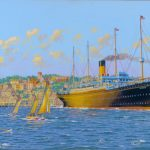 SS Cymric in Cork Harbour, Ireland, 1914.