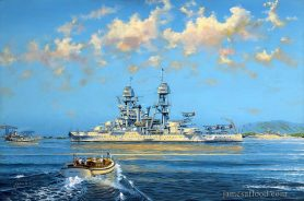 USS Arizona Art Print