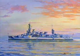 Painting of USS Boston CAG 1