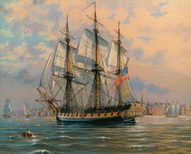 USS Boston in Boston Hharbor, 1804