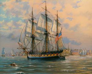 USS Boston in Boston Hharbor, 1804