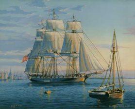 USS Boston departing Philadelphia 1831