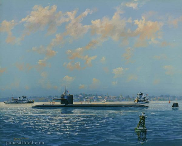 USS Boston SSN-703 Sub Art Print
