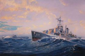 Painting of USS Charles P Cecile