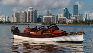 Jim Floods launch Duchess in Biscayne Bay