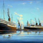 Painting of SS Florida and SS Iroquois
