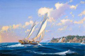 Sailboat Haldania in the Mediterranean
