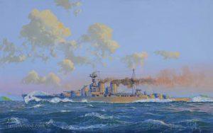 HMS Hood off the coast of Arran