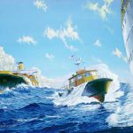 Painting of Pilot and Pilot Boat