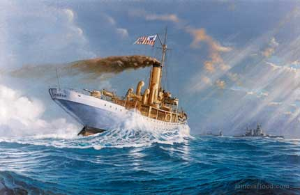 Painting of USCGC Modoc