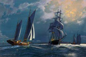 Midnight Shipping off Newport