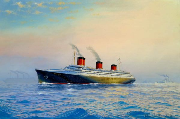 SS Normandie Side View Art Print