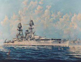 Painting of USS Oklahoma