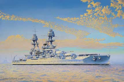 Painting of USS Oklahoma