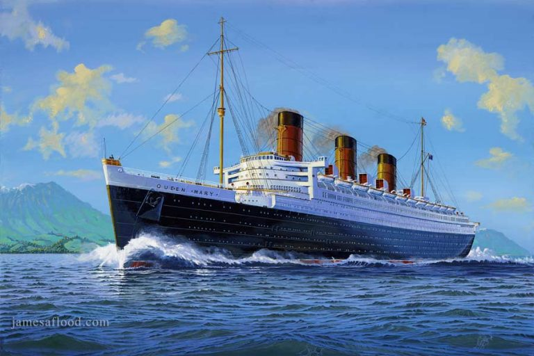 RMS Queen Mary off the coast of Arran