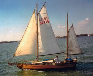Sailboat Royal Charles off Key Biscayne, FL