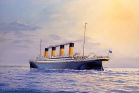 RMS Titanic Approaching Queenstown Art Print