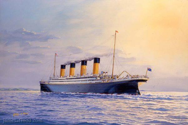 RMS Titanic Approaching Queenstown Art Print