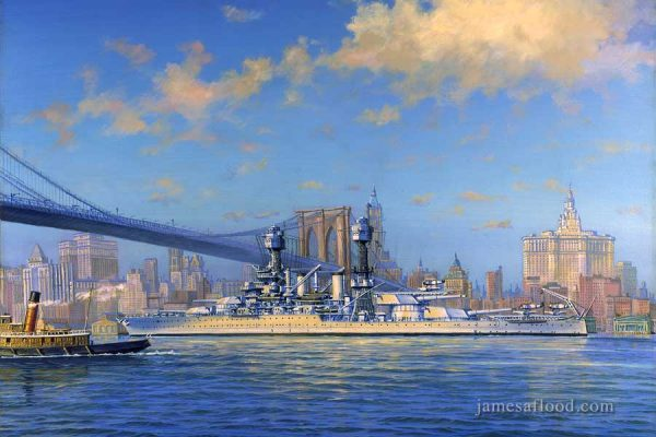 USS West Virginia Art Print