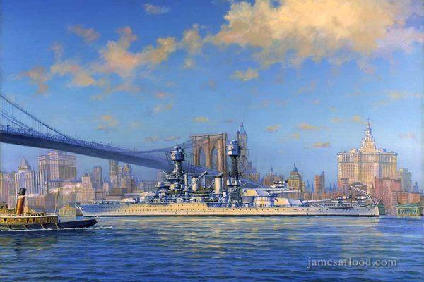 USS West Virginia Art Print