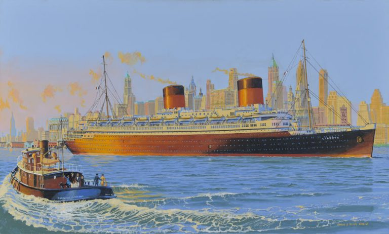 SS Liberte New York City 1950s