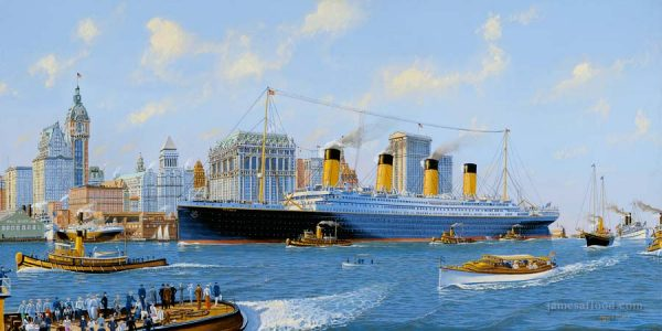 RMS Titanic Manhattan Art Print