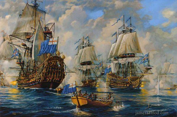 Battle of Texel Art Print